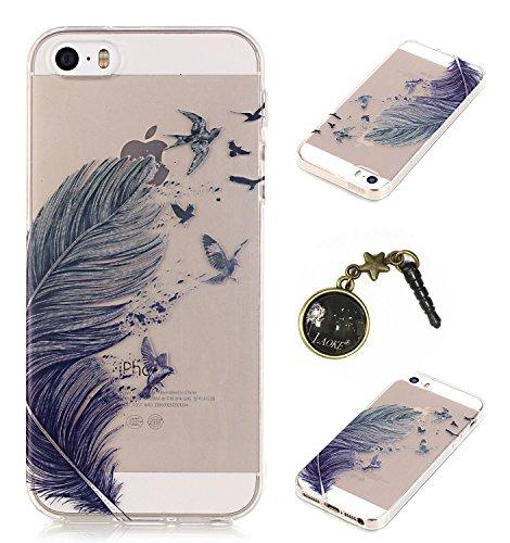TPU Silikon Schutzhülle Handyhülle Painted pc case cover hülle Handy-Fall-Haut Shell Abdeckungen für Smartphone Apple iPhone 5 5S SE +Staubstecker (E9) 12