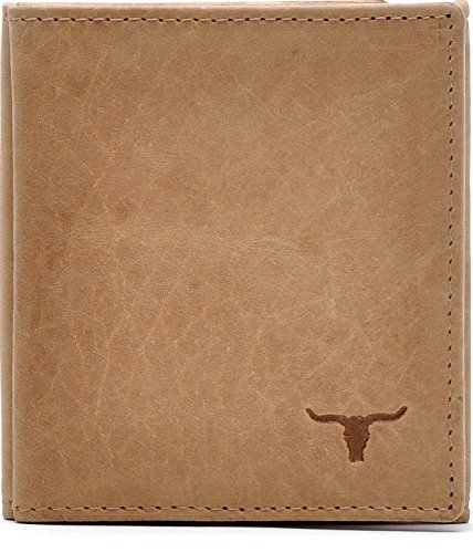 URBAN FOREST, Cntmp, Leder, Geldbörse, Portemonnaie, Wiener Schachtel, Börse, Brieftasche, Natur-Leder, 9,5x10,5x2cm (B x H x T), Farbe:Natur