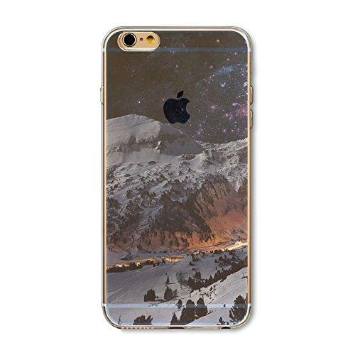 Coque iPhone 6 6s Housse étui-Case Transparent Liquid Crystal en TPU Silicone Clair,Protection Ultra Mince Premium,Coque Prime pour iPhone 6 6s-Paysage-style 1 1