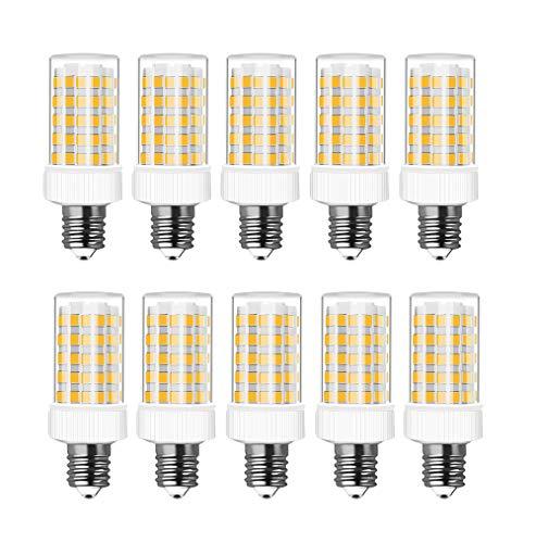 RANBOO E14 LED Lampe 10w Ersatz 80W Halogenlampen, 800LM, Warmweiß 3000K, AC 220-240V, LED Birnen für Kronleuchter, Wandlampe, Kühlschrank und Dunstabzugshaube, Nicht Dimmbar, 10er Pack