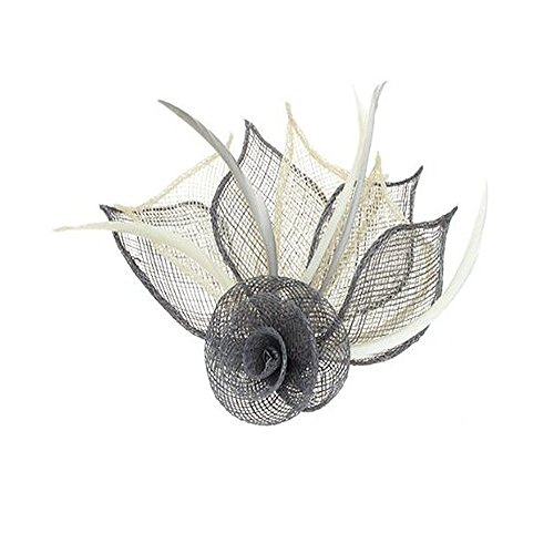4479-2-tone-coloured-hessian-netted-rose-with-3-petals-fascinator-on-beak-clip-brooch-pin-wedding-gr