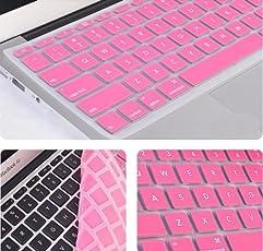 "2010kharido Silicone Compact Keyboard Skin Guard Cover Apple Macbook 13"" 15"" 17"" Air/Pro/New Pro Retina Light Pink"