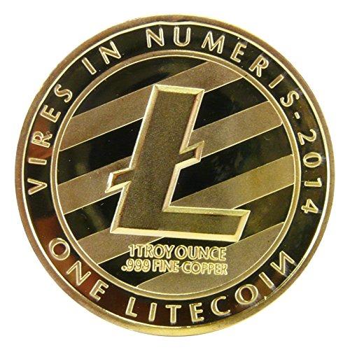 Physische Litecoin Münze mit Gold überzogen - 3