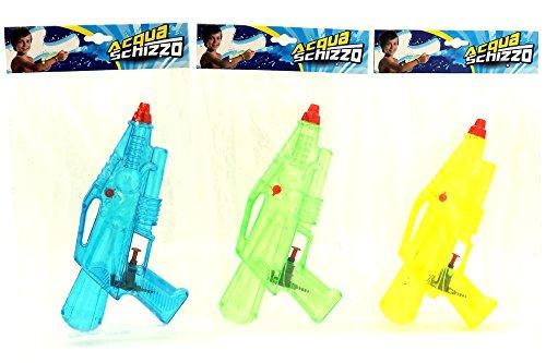 GLOBO 35385 Pistola de Agua Pistola de Agua - Pistolas de Agua (Pistola de Agua, Integrado, Azul, Verde, Amarillo, 260 mm, Ampolla)