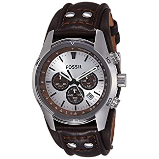 Fossil Coachman Chronograph Silver Dial Men's Watch – CH2565I