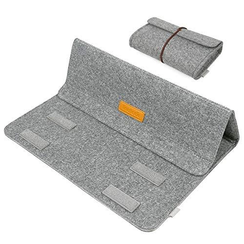 Inateck MP1305 13,3 Zoll Sleeve mit Stand-Funktion für MacBook Air/Pro Retina/12,9 Zoll iPad Pro Case Gehäuse Hülle Ultrabook Netbook Laptop Tablet PC-grau