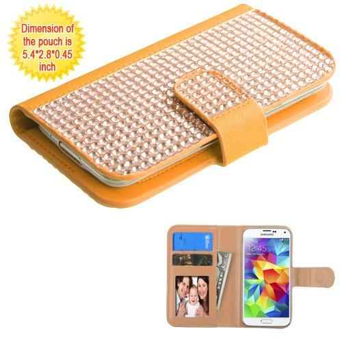 Schutzhülle und Eingabestift, passend für Apple iPhone, Samsung, LG etc. Geldbörse mit Kreditkartenfächern - Goldgeldbörse für 10,2 cm - 4,7 Zoll Handy/Gerät. Passend für folgende Modelle: