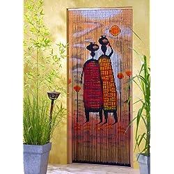 "De madera de bambú de madera de bambú de cortina de puerta de cortina de ""Mombasa"" de alrededor de 90 x 200 cm"