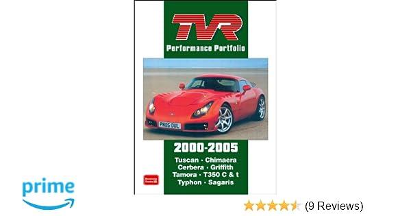 TVR BOOK BROOKLANDS PORTFOLIO TUSCAN GRIFFITH CHIMAERA PORTFOLIO TAMORA S GT