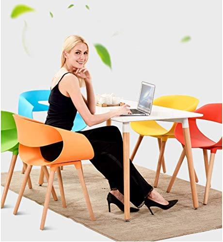 AG Hauptstuhl Hocker Klappstuhl-Küche Esszimmerstuhl modernen Stil Büro Lounge Stuhl, Wohnzimmer Stuhl, Holzbeine Kunststoff Sitz und Rücken,rot, - Rote Moderne Lounge-stühle