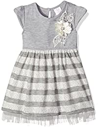 Youngland Baby Girls Brushed Sparkle Stripe Sweater Knit Dress