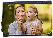 LolaPix Cartera Tejana Personalizada con tu Foto/Diseño/Texto. Regalo Original y Exclusivo. Tejido en Cartera