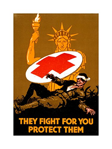 war-medical-red-cross-statue-liberty-soldier-frame-art-print-picture-f12x924