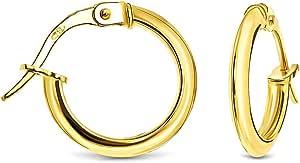 Miore Orecchini Donna Cerchio Oro Giallo 18 Kt / 750