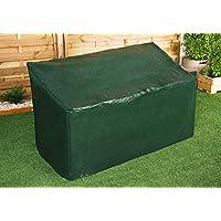 Ram® Cubierta resistente para banco de jardín de 3 plazas impermeable al aire libre con ojales de esquina y cuerdas de seguridad - Adecuado para bancos de hasta 160 cm