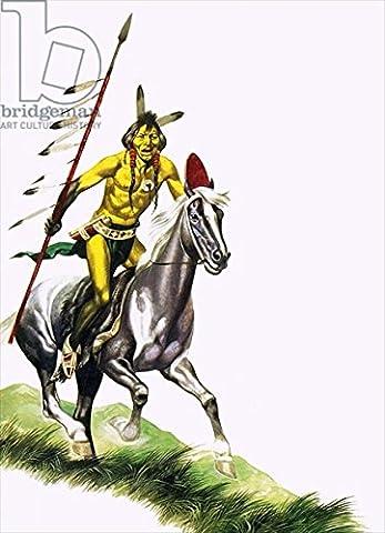 """Leinwand-Bild 40 x 60 cm: """"Cheyenne warrior"""", Bild auf Leinwand"""