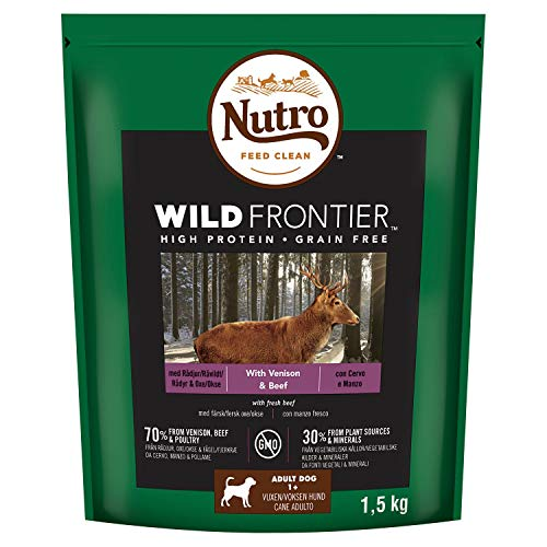 Nutro Dry Wild Frontier Adult Medium Dog Food with Venison & Beef...