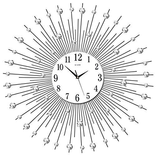 XIXIGZ Relojes De Pared Moda Electrónica Nórdica Salón Creativo Mudo Tendencia Europea Arte Decoración Personalidad Hogar Reloj De Cuarzo Gráficos De Pared