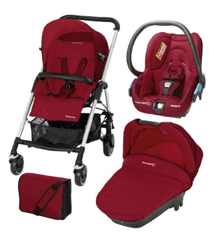 Bébé Confort - Passeggino trio Modulare Streety Plus, Raspberry Red