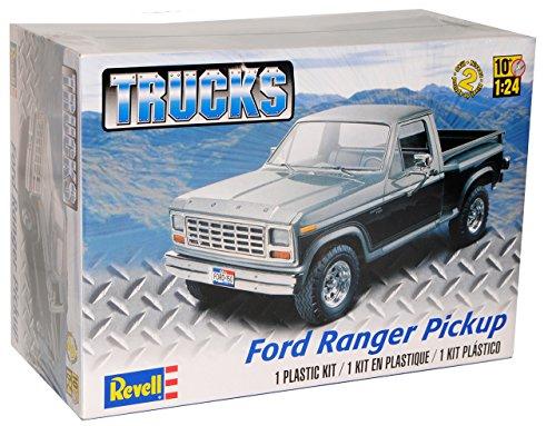 Ford-Ranger-Pick-Up-Schwarz-85-4360-Bausatz-Kit-124-Revell-Monogram-Modell-Auto-mit-oder-ohne-individiuellem-Wunschkennzeichen