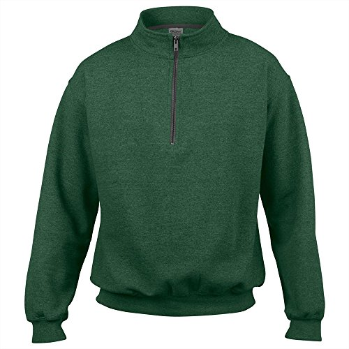 Vintage Quarter Zip Sweatshirt by Gildan - Sport Grey - M -