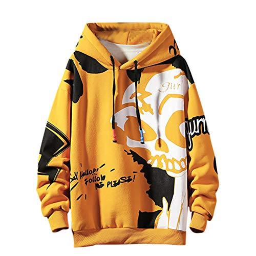 kolila Unisex Hip-Hop Kapuzenpullover Tops Herbst Winter Casual Graffiti Brief Print Streetwear Stil Pullover Sweatshirt Jacke Mantel Herren -