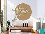 Klebefieber Wandtattoo Japanische Sonne B x H: 120cm x 107cm Farbe: türkis