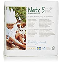 Naty by Nature Babycare Size 5 ECO Nappies - 4 x Packs of 23 (92 Nappies)