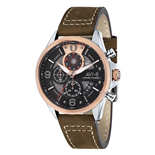Hawker Harrier II AV-4051-01 Men's Watch – AVI-8 – Leather – 45 mm