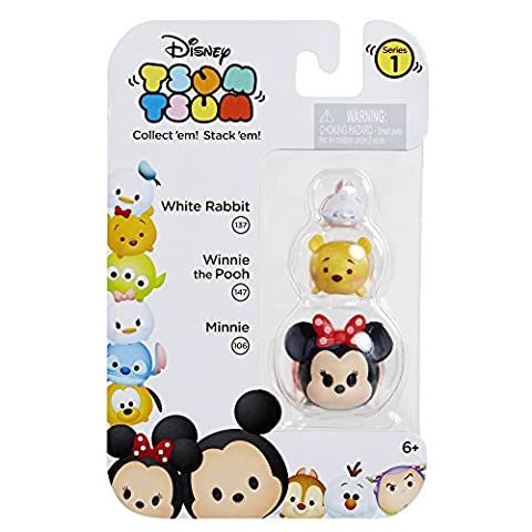 Disney Tsum Tsum 3 Pack Figures - Series 1 - Minnie Mouse, Pooh and White Rabbit