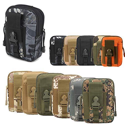 ZhaoCo Taktische Hüfttaschen, Nylon Militär Kompakt MOLLE EDC Handytasche Gürteltasche Beutel für Gadget-Dienstprogramm Camping Wandern Reise - Schlange (10-tasche Mit Werkzeug-tasche)