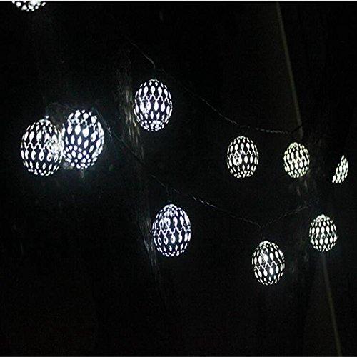 Q&D Solar schnee lichterketten LED outdoor dekorative lichter garten lichter wasserdichte traube Weihnachten Weihnachten Kronleuchter , silver ball white light