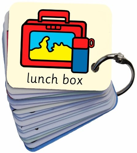 Getting Ready For School Picture Exchange Communication Keyring (AAC / ASD) Visual Aid Resource