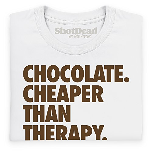 Chocolate - Cheaper Than Therapy Langarmshirt, Herren Wei