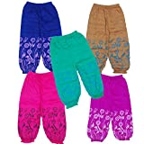Light Gear Baby (2 to 6 Years) Patiala Pants / Leggings Pack of 5 ( Colors May Vary ) (3-4 years)