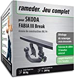 Rameder Attelage rotule démontable pour Skoda Fabia III Break + Faisceau 13 Broches...