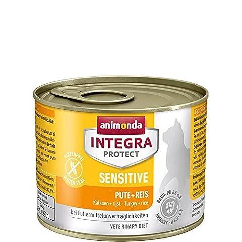 Animonda Integra Protect Sensitive Katzenfutter Pute + Reis, 6er Pack (6 x 200 g)