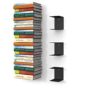 L'étagère à livres invisible grand (Lot de 3 étagèrivres noir à 100 cm livres ou 90 kg livres)