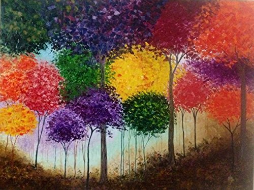 Jungle of colours (Oil Painting by Shilpi Singh Patel)