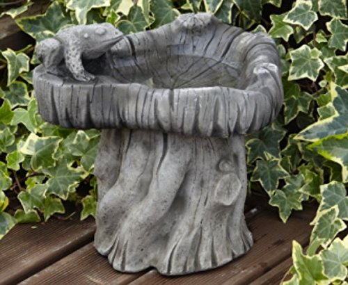 Mini Frog Bird Bath - Garden Ornament With Classical Style