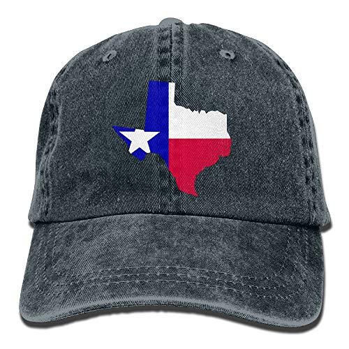 Men&Women USA Flag Love Classic Washed Dyed Cotton Denim Solid Color Baseball Cap One Size -