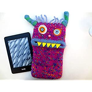 "S Readertasche""Romy"", E-Book Hülle, Monster, Filzwolle, gefilzt, Unikat, Tasche, Tolino, Kindle."