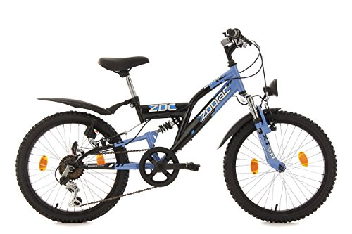 KS Cycling Jungen Fahrrad Kinderfahrrad Fully Zodiac Schwarz 20