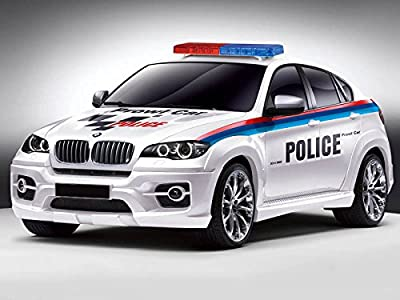 Licensed 1:14 Bmw X6 Radio Remote Contro Police Car Sports Lights Fast Speed Toy - The Perfect Gift For Your Children.