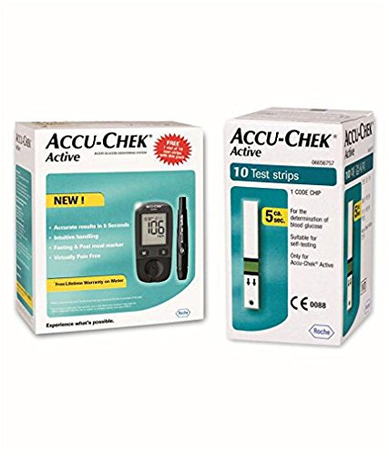 Accu - Chek Active Blood Glucose Meter Kit  available at amazon for Rs.1519