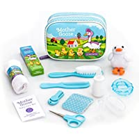 YELLODOOR Baby Grooming Kit | Essential Baby Care Items for Travelling & Home Use | with Manicure Set, Thermometer & Finger Puppet Toy | Ideal for Newborn, Infant, Toddler Girls & Boys | 17 Pcs