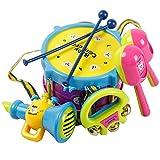 Creation Drum Set per i bambini, 5pcs mano drum beat strumento musicale gioco sconcerta il giocattolo dei bambini educativi immagine