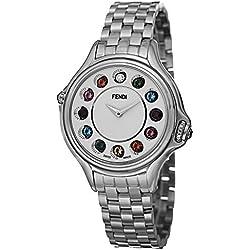 Fendi Reloj de mujer cuarzo suizo 38mm correa y caja de acero F107034000T05