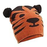FLOSO - Gorro de punto para invierno con diseño animal unisex para niños ( tigre, panda, oso, perro ) (Talla Única/Tigre)
