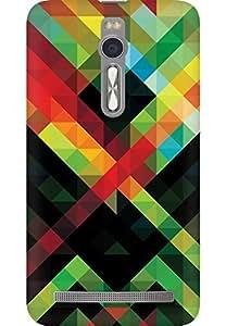 AMEZ designer printed 3d premium high quality back case cover for Asus Zenfone 2 (colour shape pattern)